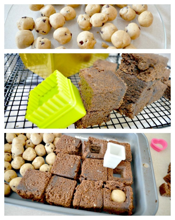 Cookie Dough Pound Cake Collage