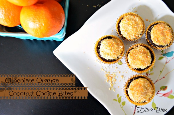 Chocolate Orange Coconut Cookie Bites (Ellie's Bites)