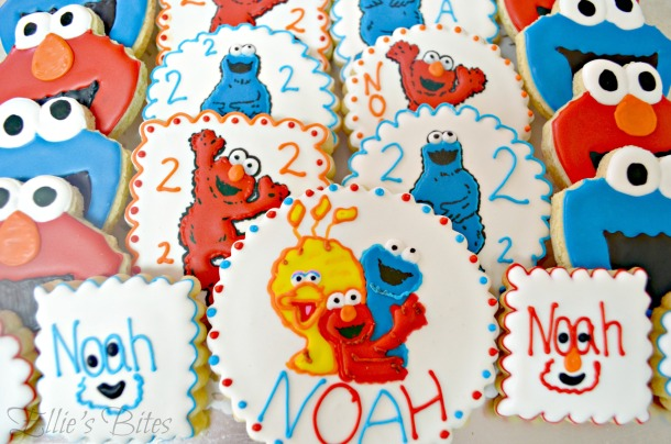 Elmo and Cookie Monster for Noah (Ellie's Bites)