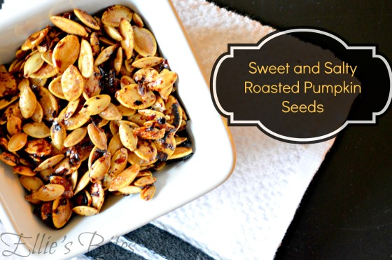 Sweet and Salty Roasted Pumpkin Seeds (Ellie's Bites)