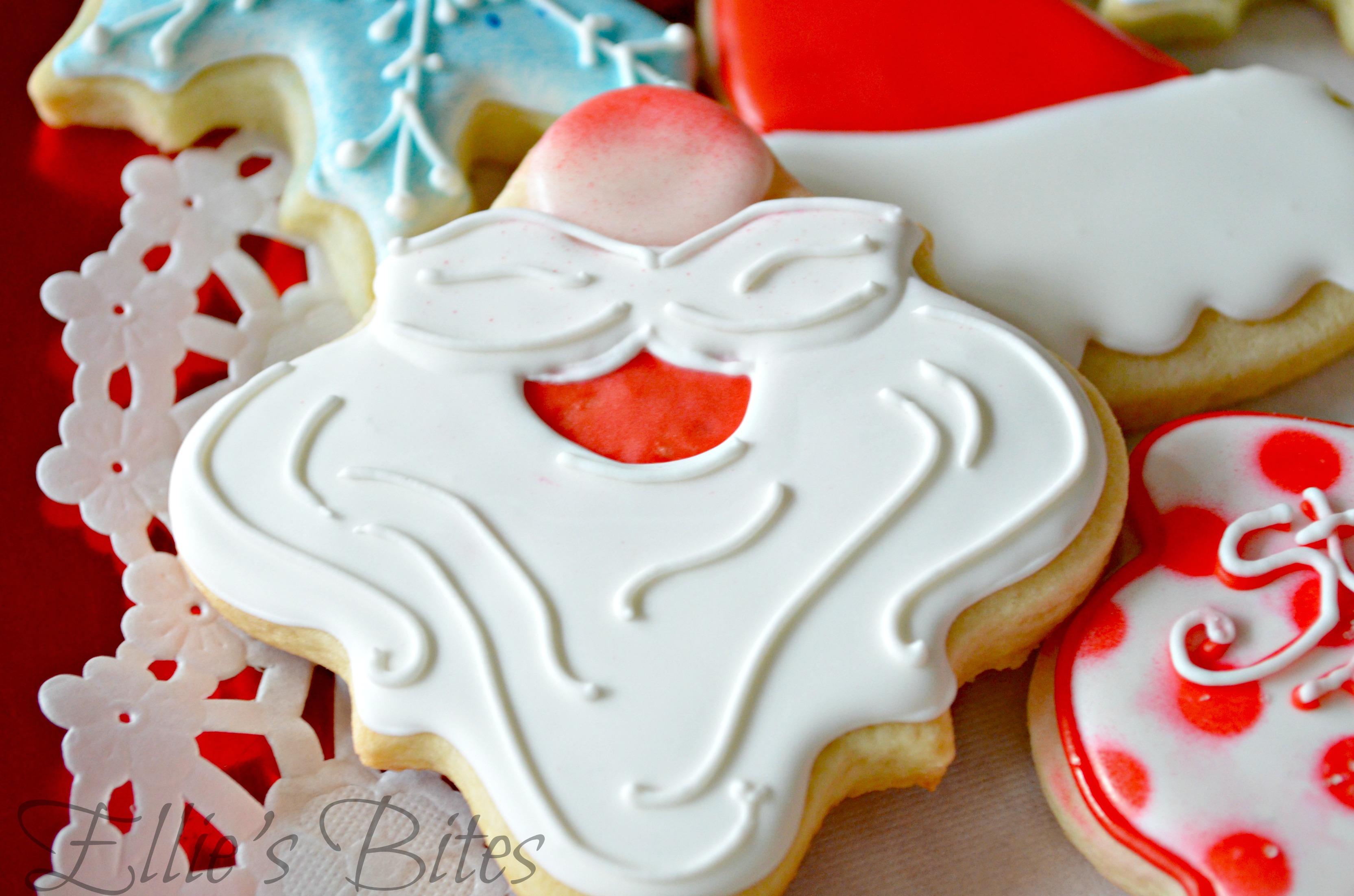 Santa Cookies Ellie S Bites Decorated Cookies