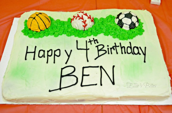 Ben's Sports Birthday Cake (Ellie's Bites)