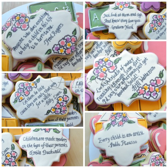 Back To School quotes cookies (Ellie's Bites)