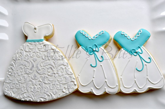 Wedding Dress Cookies (Ellie's Bites)